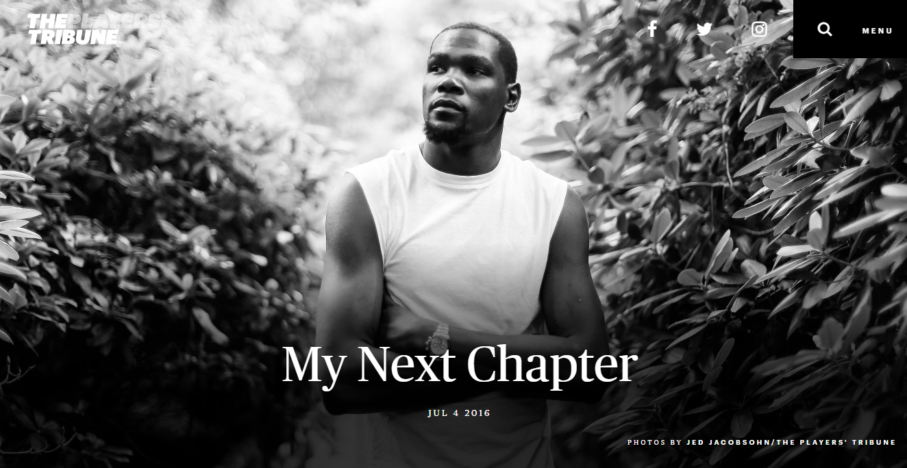 Kevin Durant next chapter advertisement
